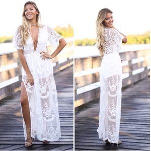 Honey Punch Lace Maxi Dress